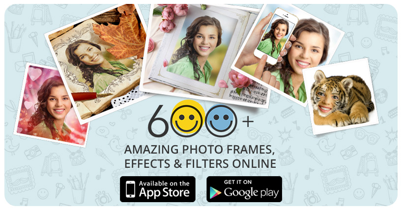 Funny photo frames, online photo effects, filters & collages